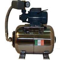 Насосная станция на базе насоса QB60/PKM60 HydraWorld на баке 50 л, Италия, нержавейка