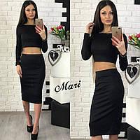 Женский костюм топ и юбка