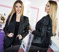 Трендовая двухсторонняя женская кожаная куртка