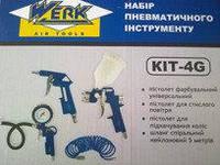 Пневмоинструмент Werk КІТ-4G набор из 4 предметов.
