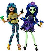Набор кукол Монстер Хай Нефера де Нил и Аманита Найтшейд Крик и сахар Scream & Sugar Amanita Nightshade Nefera