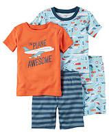 Набор хлопковых пижам Самолеты Картерс 4-Piece Snug Fit Cotton PJs