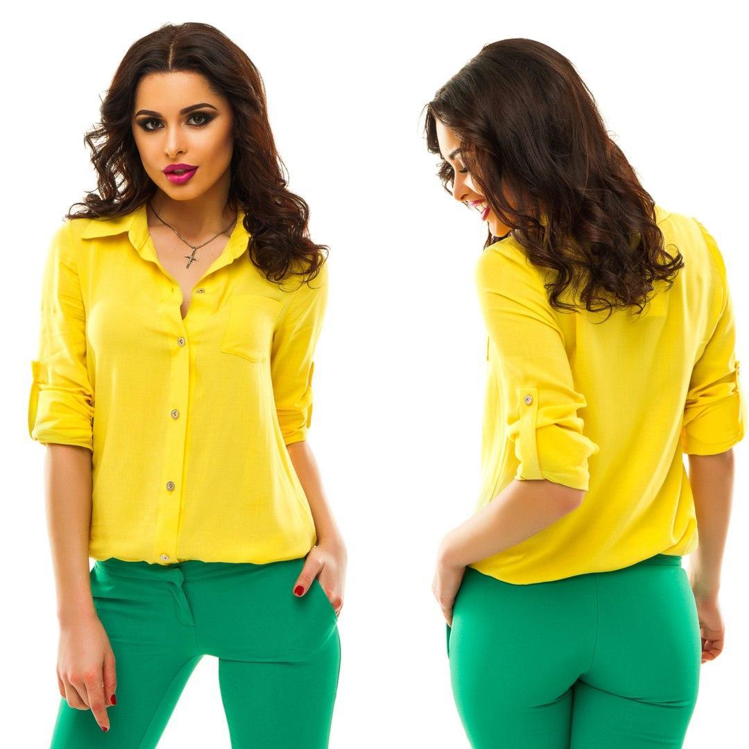 f4ed7d3be1b43 Блузка рубашка женская Ассорти цветов № 097 анд - магазин одежды