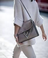 Женская сумка в стиле CHLOE FAYE SHOLDER BAG GREY (2100), фото 1
