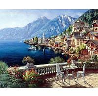 Живопись картина 40*50 пейзаж море горы берег, рисование по цифрам