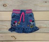 Джинсовая юбка Микки Маус с резиночкой на поясе Турция на 2, 3, 4, 5, 6 лет