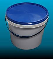 Ведро пластиковое белое для пищевых продуктов V=10 л(40 шт/ящик)