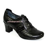 """Туфли женские кожаные на каблуке декорированные камнями. ТМ """"Maestro"""", фото 1"""
