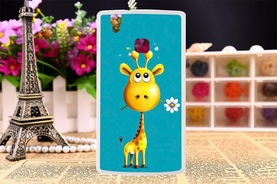Оригинальный чехол панель накладка для Doogee X5 max pro с картинкой жираф