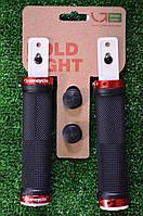 Грипсы Green Cycle GC-G201 черные с двумя красными замками