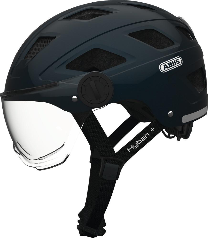 Велошлем ABUS HYBAN + clear visor Black (L)