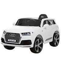 Электромобиль детский Audi Q7 JJ2188 EBLR-1 белый  с ЕВА колесами,кожаное сиденье***