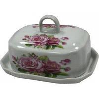 Масленка керамическая Розы