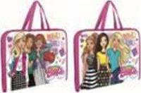 Папка-портфель на молнии с тканевыми ручками Barbie 491140