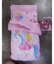 Подростковое постельное белье KARACA HOME PERIWINKLE PEMBE SV25