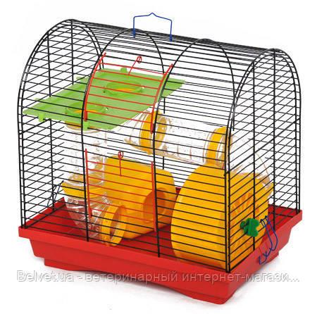 Клетка Бунгало-2 Люкс  для грызунов, цельная 335х230х365 мм, краска