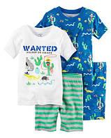 Набор хлопковых пижам Приключения в пустыне Картерс 4-Piece Snug Fit Cotton PJs