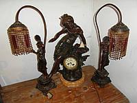 Каминные антикварные часы из Франции !