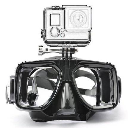 Комплект маска для дайвинга с креплением для GoPro,Xiaomi,SJCam+Трубка для плавания, фото 2