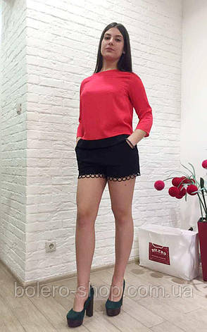 Женские шорты черные ажурные свободные, фото 2