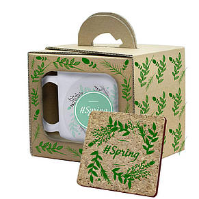 Подарочная кружка с костером в коробке, фото 2