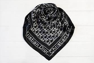 Шейный платок брендовый Christian Dior черный