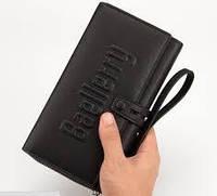 Мужской клатч портмоне  Baellerry Guero на кнопке (черный)