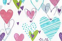 """Ткань с сердечками """"Love is Love"""" для штор и скатертей"""