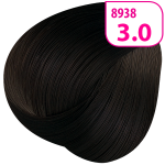 Стойкая СС крем-краска для волос KRASA с маслом амлы и аргинином тон 3.0 Темный каштан