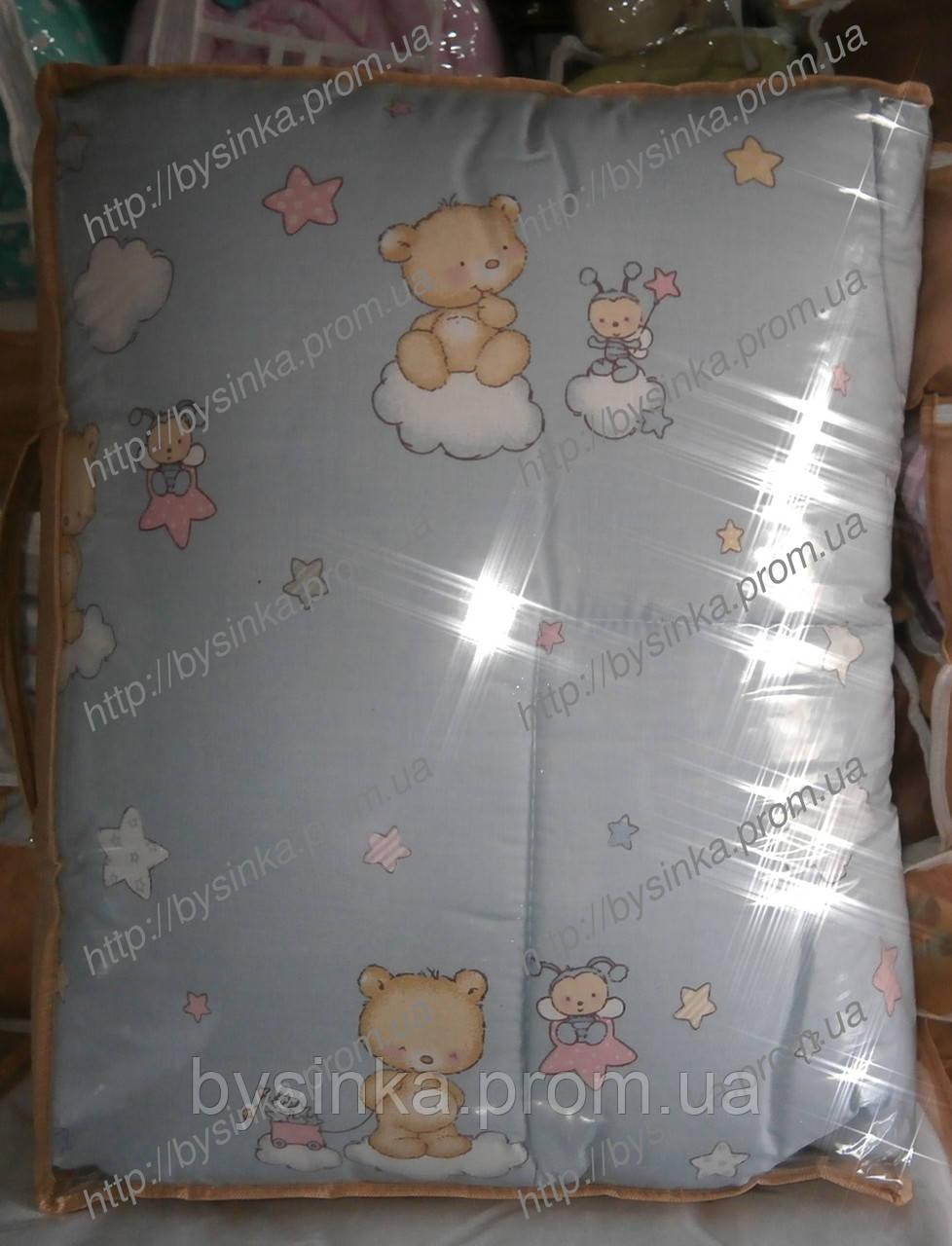 """Одеяло и подушка для новорожденных в кроватку- """"Мишка на облаке"""""""
