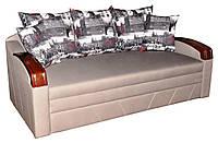 Софа Прага с элегантными накладками серого цвета с подушками Амстердам