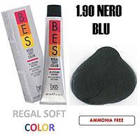 Краска для волос BES Regal Softcolor 1.90 (иссиня-черный) 60 мл