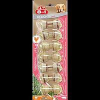 Кости 8 in 1 Pork Delights Bones XS для собак жевательные, со свининой, 7 шт