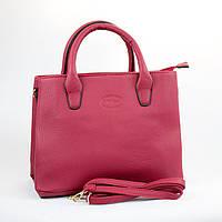 Красная большая женская сумка из кожзаменителя