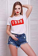Женская белая футболка 1990