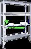 Стеллаж профессиональный НЖ 1100*400*1800  (каркас крашеный)