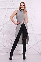 Женская кофта-туника серого цвета, фото 1