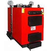 Твердотопливный котел длительного горения Альтеп КТ-3E -97 с турбиной и автоматикой, ручная загрузка