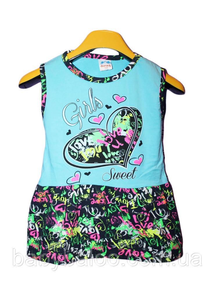 Платье сердечко цветная юбка(от 2 до 5 лет)