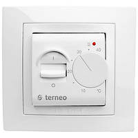 Терморегулятор Terneo mex для теплого пола механический белый