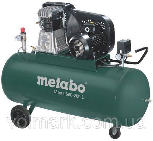 Компрессор Metabo Mega 580-200 D, фото 2