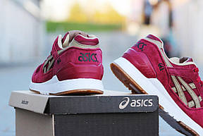 МужскиеКрутые кроссовки Asics GEL LYTE V летние, замша+сетка, бордовые 44р, фото 3