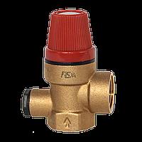 """RS-K 6 bar 1/2"""" ВВ Предохранительный клапан с подключением манометра"""