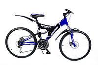 Горный подростковый велосипед 24 дюйма Sprint 165-FR синий