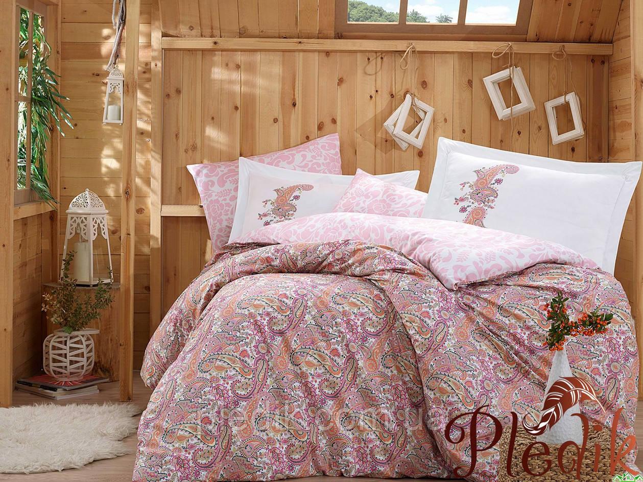 Комплект постельного белья 200х220 HOBBY Poplin Giulia розовй