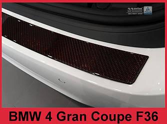Накладка на задний бампер BMW 4 F36 Gran Coupe Carbon (red)