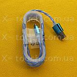 USB - Micro USB кабель в силиконовой оболочке 1 м, Шнур micro usb 2.0 для Sony (цвет салатовый), фото 2