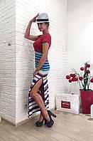 Женское платье летнее в разноцветную полоску Италия