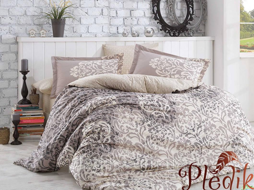 Комплект постельного белья 200х220 HOBBY Poplin Serenity серый