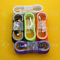 USB - Micro USB кабель в тканевой оболочке 1.5 м, Шнур micro usb 2.0 Bravis ( цвета в ассортименте )